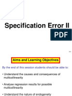 Specification Error II