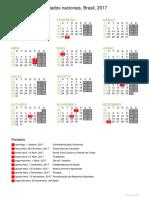 Calendário PDF  Brasil Feriados nacionais sample 1576684948