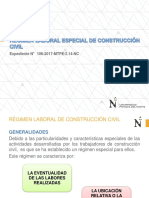 RÉGIMEN LABORAL DE CONSTRUCCIÓN CIVIL