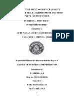 logistics MBA Project report