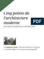Cinq points de l'architecture moderne — Wikipédia