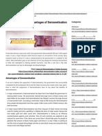 Advantages and Disadvantages of Demonetisation _ H&R Block