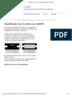 Amplificador de audio LA4445 Estereo en 12 voltios