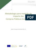 Análise de metodologia do impacto das Compras Públicas Ecológicas em Portugal