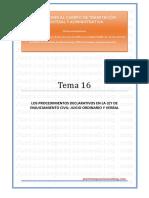 _Tema 16 - Proceso civil. Declarativos.pdf