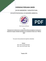 Evaluación de la eficiencia de un sistema de dos filtros percoladores en serie para el.pdf