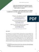 Autopercepción De Estudiantes De Psicología Sobre Sus Competencias Profesionales