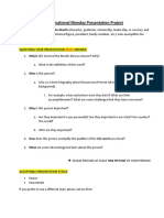 motivational monday presentation project