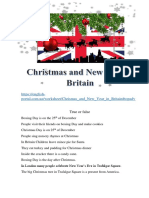 Christmas and New Year in Britain Fun Activities Games 120336