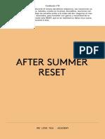 Cookbook 10 – After summer reset