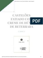 Castelões Fatiado Com Creme de Húmus de Beterraba - Queijos Portugueses