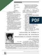 Dificultati de invatare si oportunitati de interventie educationala in scolile incluzive.doc