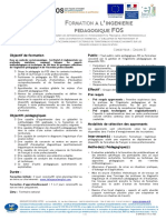 D IPM 031 V1 Programme formation des acteurs