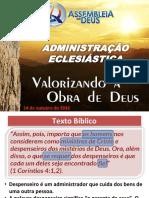 Administração Eclesiastica - Outubro 2019