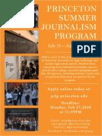 2020 PSJP Application Flyer