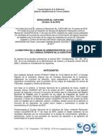 RESOLUCION CJR19-0862 CORRIGE LA RESOLUCION 851