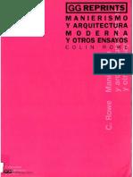 164. Manierismo y Arquitectura Moderna y otros ensayos - Colin Rowe