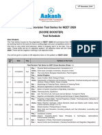 Final Revision Test Series for NEET 2020