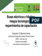 Mauricio Osses_buses electricos e hibrido_riesgos tecnologicos y requerimientos de capacitacion