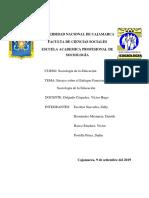 ENSAYO ENFOQUE FUNCIONAL DE LA SOCIOLOGÍA EDUCATIVA