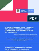 Presentacion Planeacion Territorial en salud  MAITE