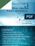 SEMINAR GROUND WATER RECHARGE