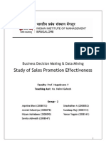 Sales Promotion Effectiveness