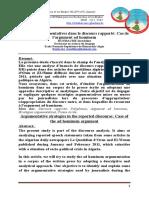 ARTICLE REVUE ELWAHATE Stratégies argumentatives dans le discours rapporté Cas de l'argument ad hominem