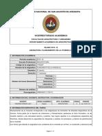Silabo-planeamiento de La Vivienda (e) (2019-b)