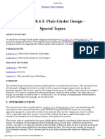 Lecture 8.4.3 Plate Girder Design - Special Topics