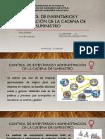 14 Control de inventarios y administración de la cadena