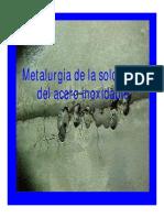 Metalurgia de La Soldadura Del Acero Inoxidable