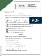 Devoir de synthèse N°1 (Corrigé) - Math - 2ème Sc (2009-2010) Mr Samaali Ali
