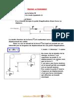 Cours - Sciences physiques travail et puissance - 2ème Sciences (2010-2011) Mr mouhemed   1