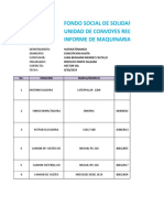 REPORTE DE MAQUINARIA SEMANAL