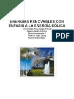Energía renovable con enfasis en la energía eolica