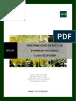 Orientaciones de Estudio 2019 2020 Orientaciones DEF