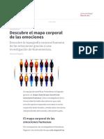 Descubre el mapa corporal de las emociones