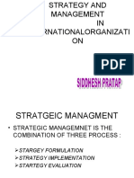 Strategy and Management 4th Sem