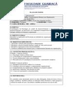 Plano Comportamento Humano nas Organizações 1 - 2015