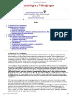 Psicopatología y Videojuegos_