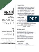 Curriculo Ana Beatriz Rigueti