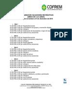 PROGRAMACION VACACIONES RECREATIVAS NOV-DIC 2016