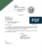 Angelina Hamrick bill of particulars