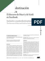 Contradestinacion Inclusiva El Discurso De Macri Y De Scioli