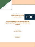 PROPUESTA ADAPTA CAMBIO CLIMATICO CHIPAYA 2019