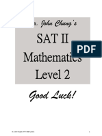 SAT II Mathematics Level 2 Dr. Chung