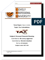 Tax Alculations