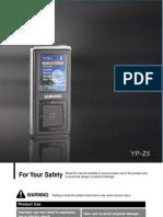 Samsung Yp z5 Manual