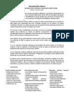 DECLARACION - RENOVACIÓN NACIONAL POR EL APRUEBO